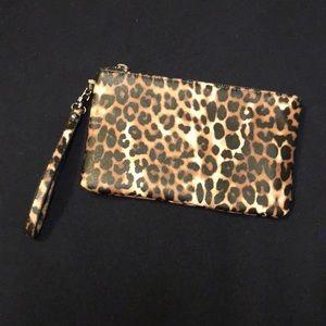 Express Leopard Print Wristlet